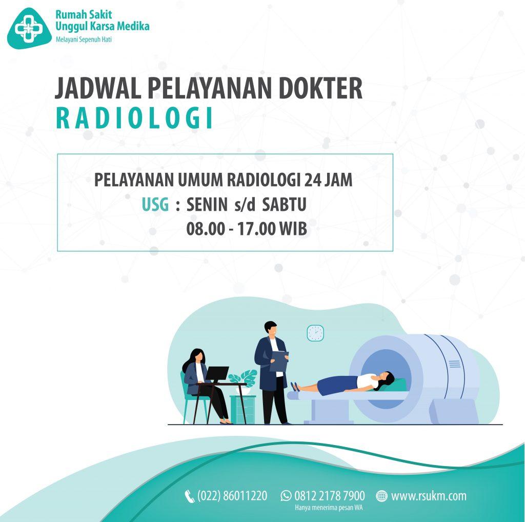 Jadwal Pelayanan Dokter Radiologi